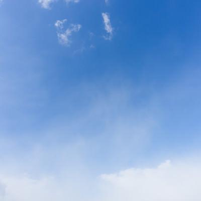 少し雲が出てきた空の写真