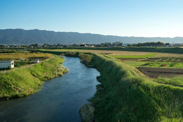 大刀洗小石原川(江戸橋から)の写真