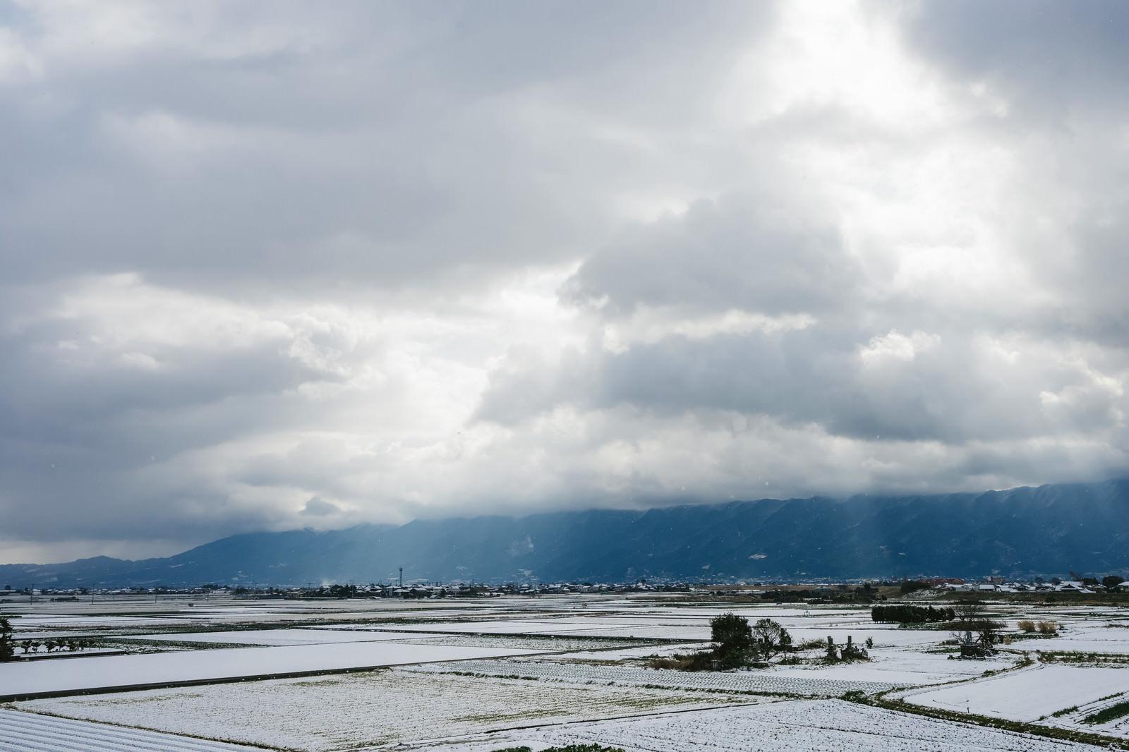 「大刀洗の冬(積雪)」の写真