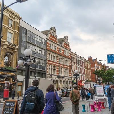 「ロンドンの街並み」の写真素材