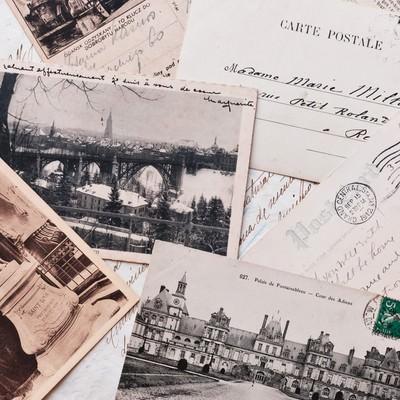 「古いカード(レター)」の写真素材