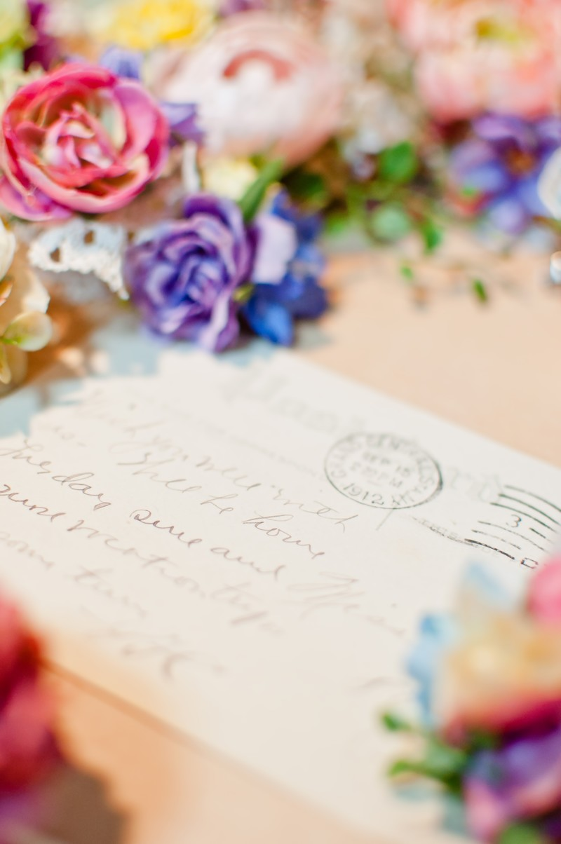 「花と手紙」の写真