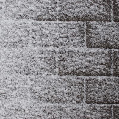 「インターロッキングと雪」の写真素材