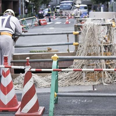「工事現場の様子」の写真素材