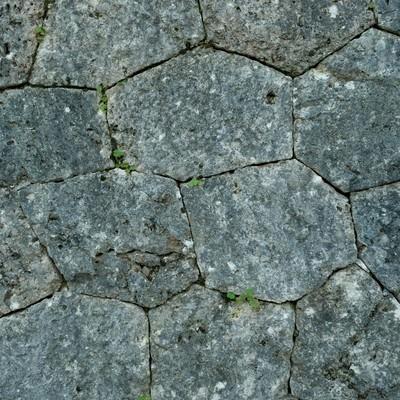 「石垣のテクスチャー」の写真素材