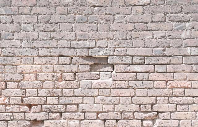 朽ちたレンガの壁(テクスチャー)の写真