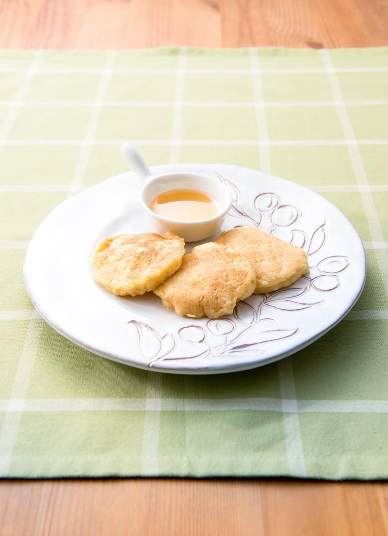 「豆腐のパンケーキ」の写真