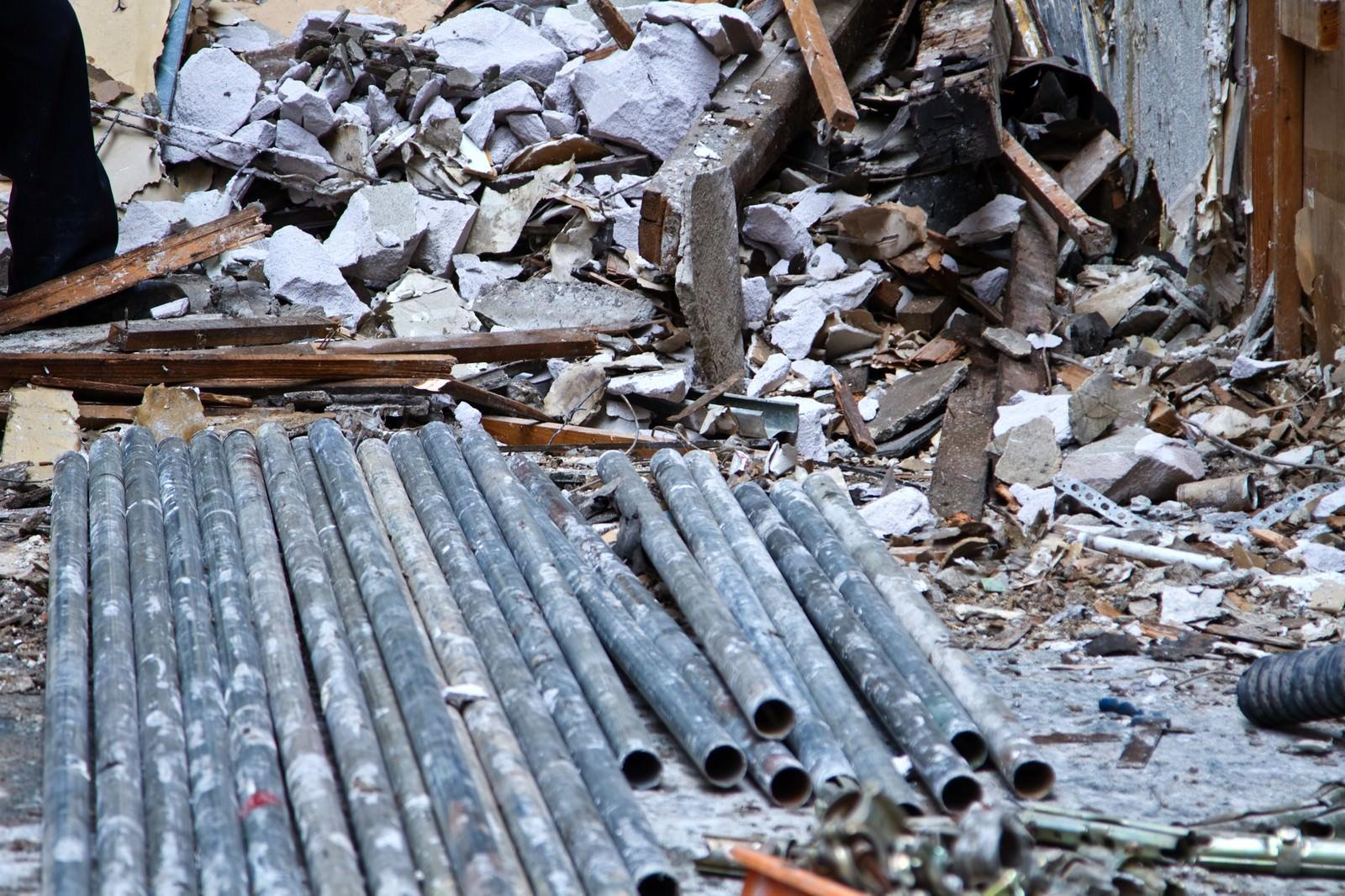 「マンションの解体現場」の写真