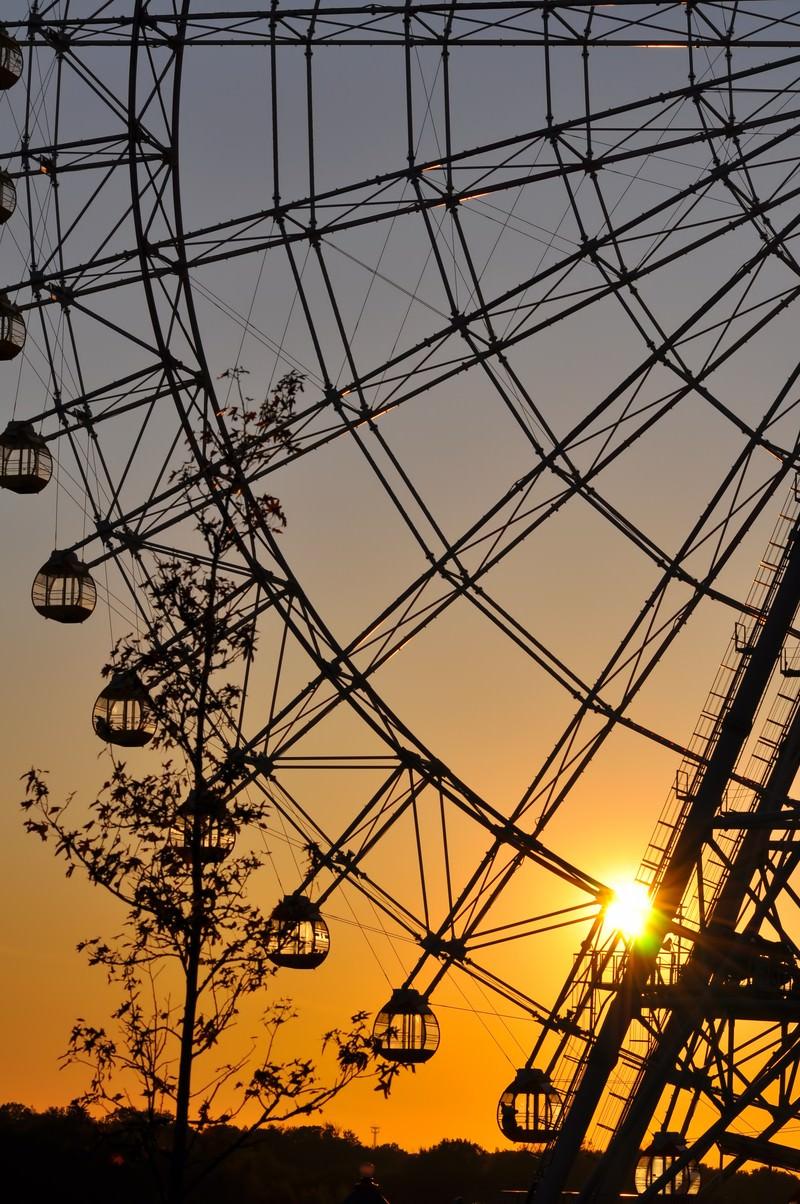 「夕焼けの観覧車」の写真