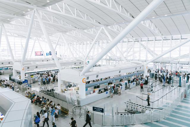福岡空港の国際線ターミナルの写真