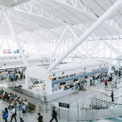 福岡空港の国際線ターミナルのフリー素材