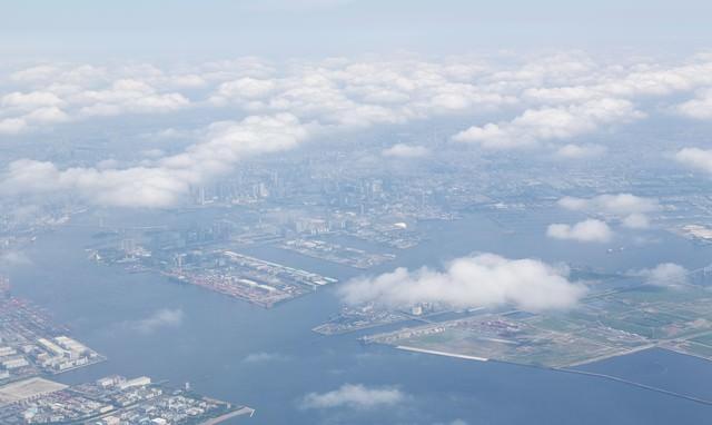 上空からの埋立地の写真