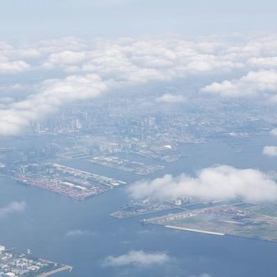 「上空からの埋立地」の写真素材