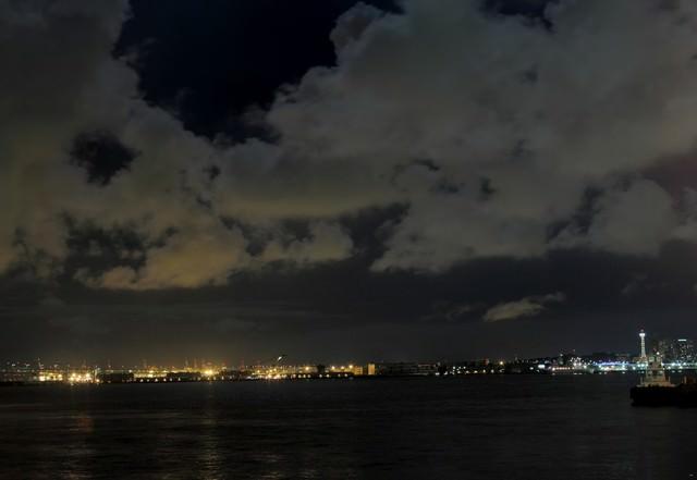 大黒埠頭の夜景の写真