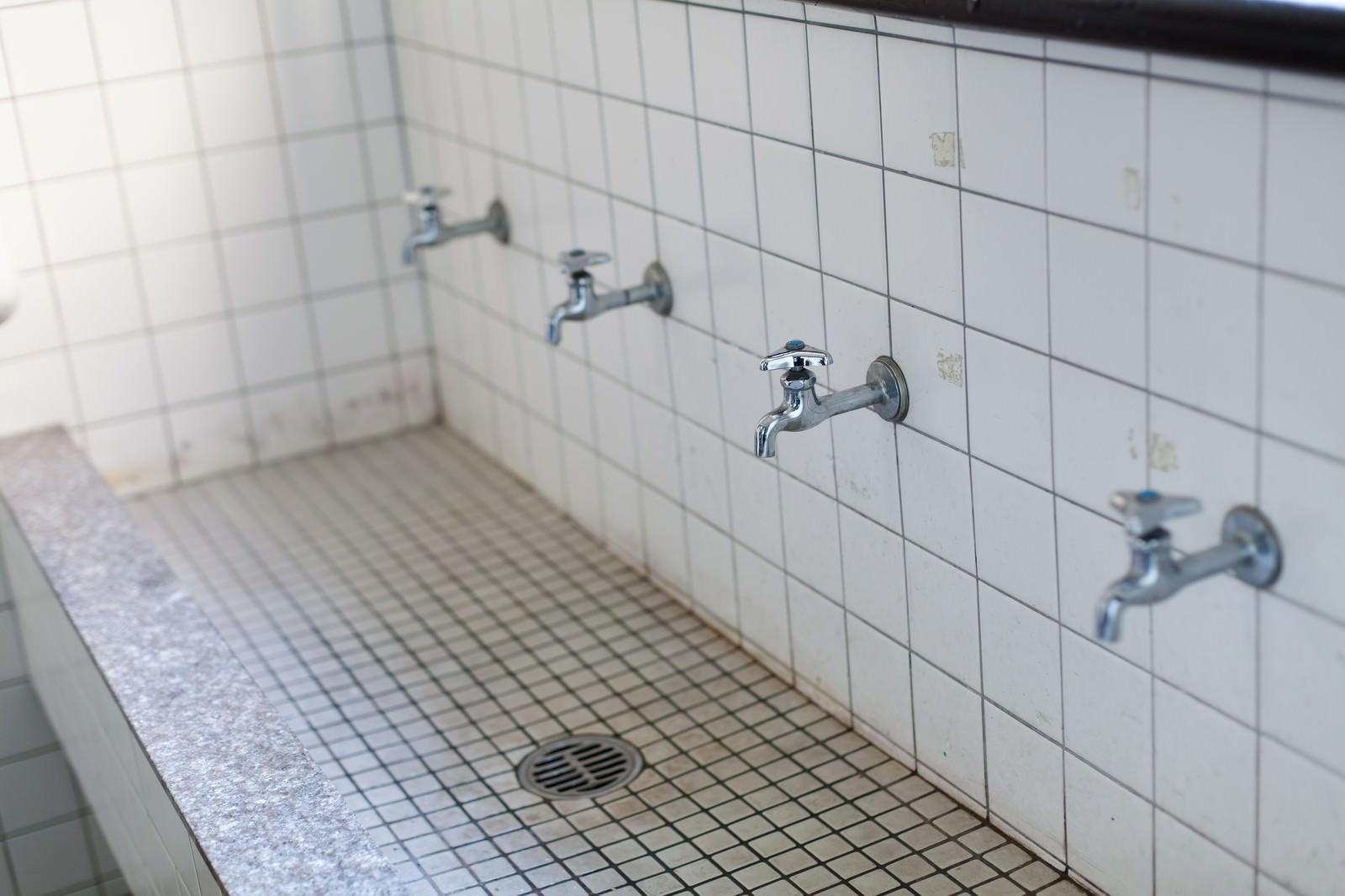 「学校の手洗い場」の写真
