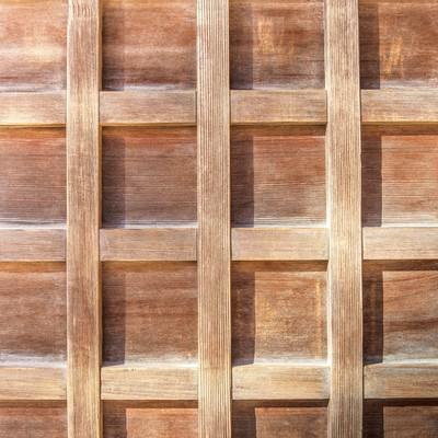 「格子状の木の板(テクスチャー)」の写真素材