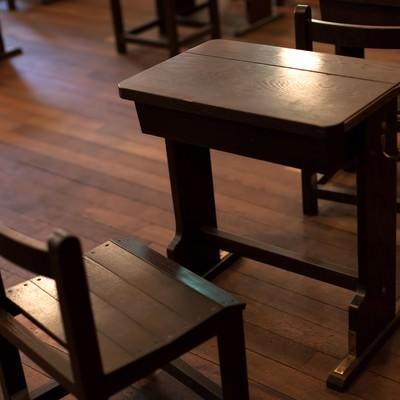 「木製の机」の写真素材