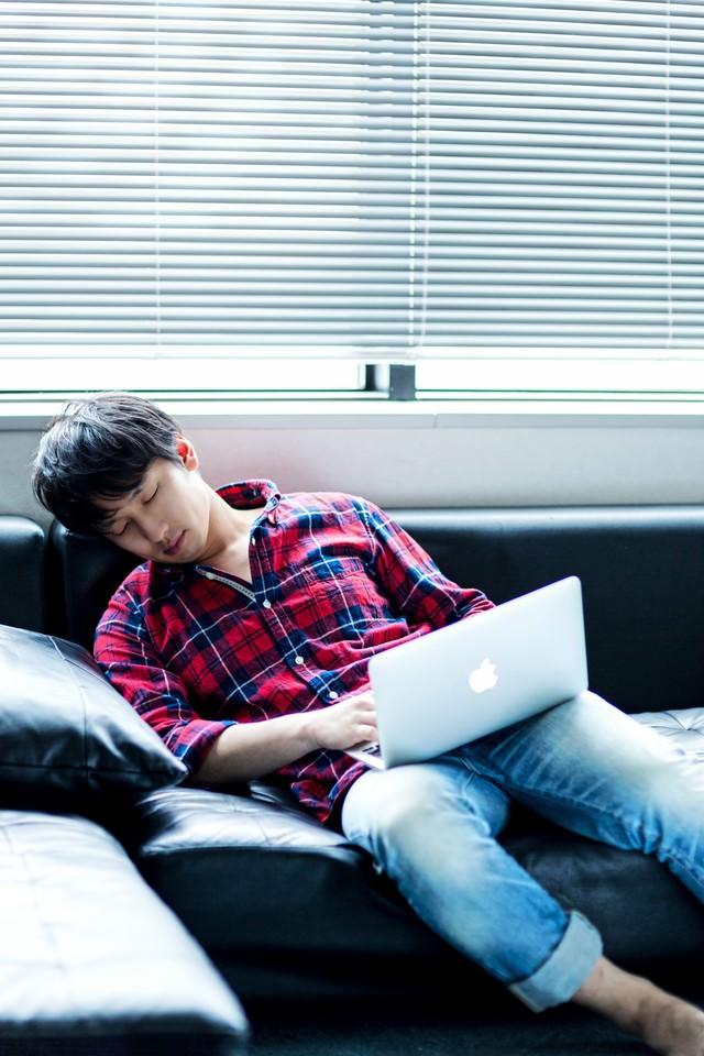 【ち】ちょっとだけ仮眠 → 朝(チュンチュン の写真