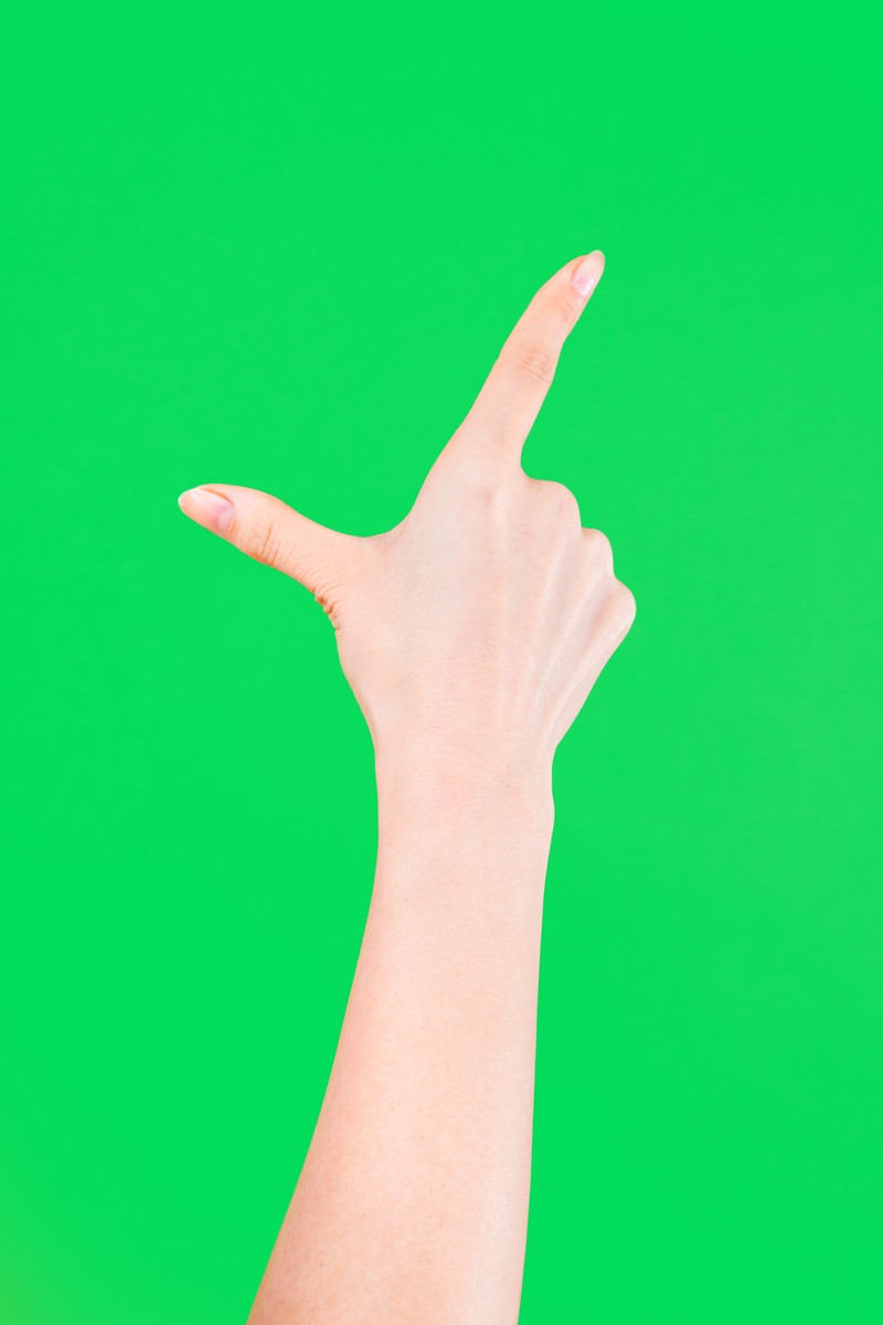 「ピンチアウト(グリーンバック)」の写真[モデル:MOA]
