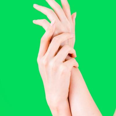 「美しすぎるハンドモデル(グリーンバック)」の写真素材