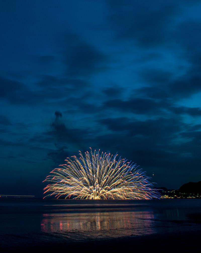 「水中花火(鎌倉花火大会)」の写真