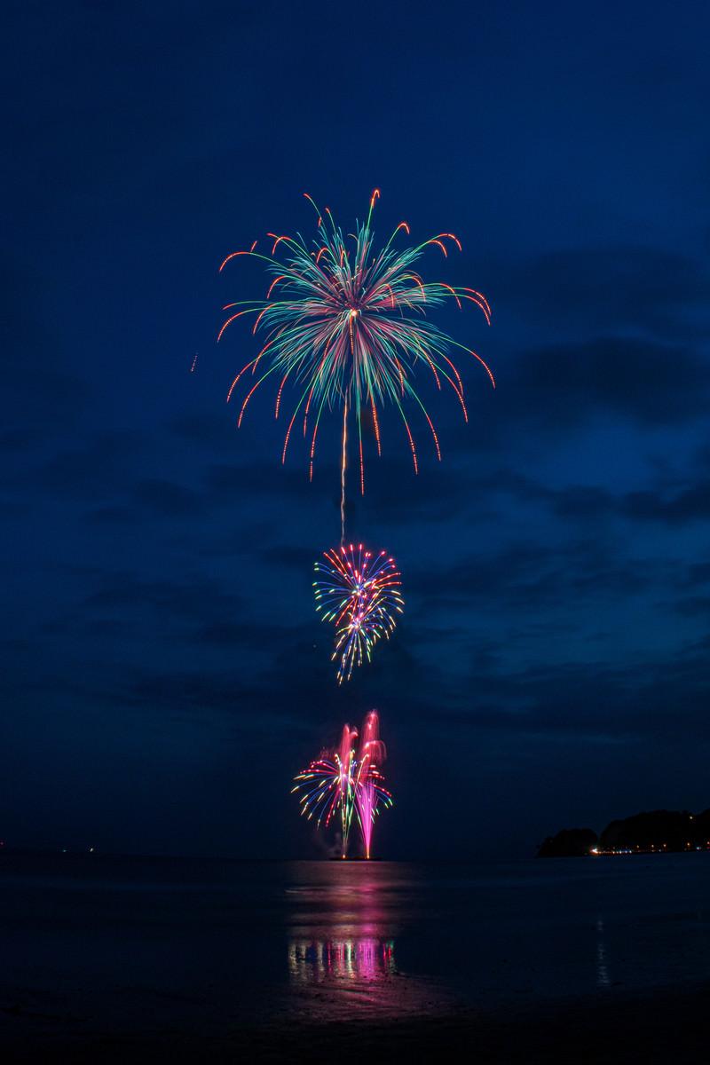 「打上花火の様子」の写真