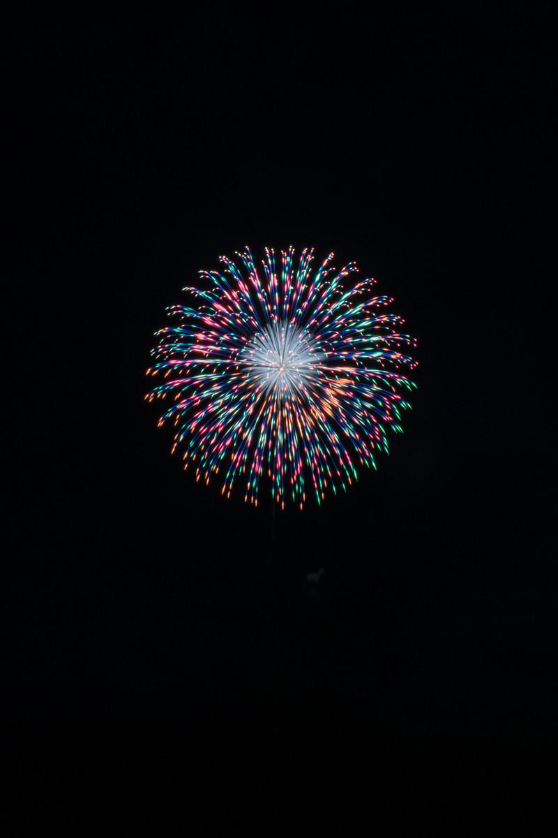 「玉虫色の打上花火」の写真