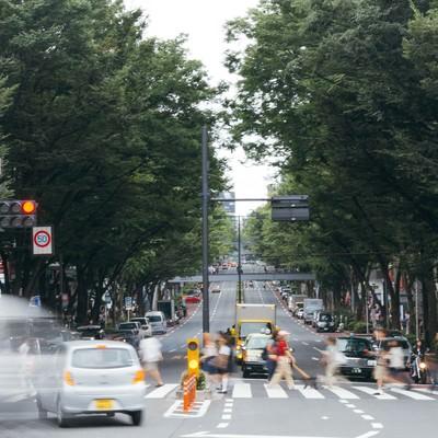 「神宮前交差点」の写真素材
