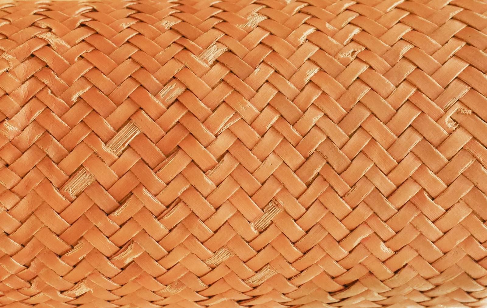 「竹編みのテクスチャー」の写真
