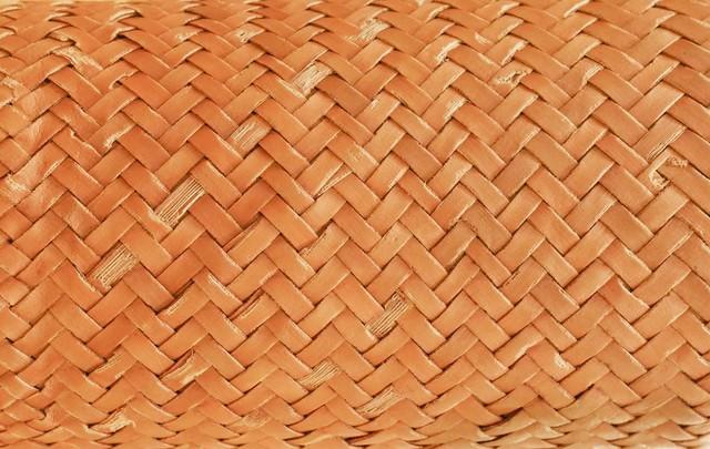 竹編みのテクスチャーの写真