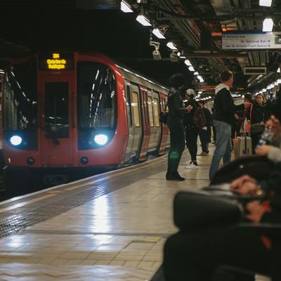 「ロンドンの地下鉄」の写真素材