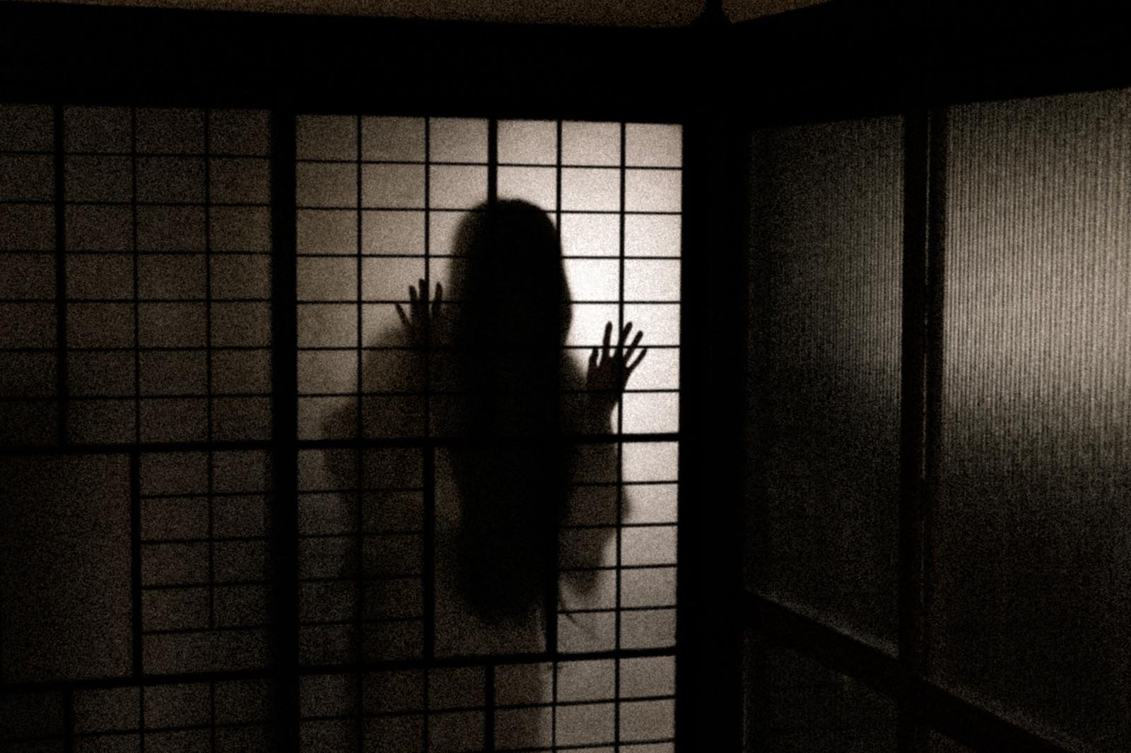 「深夜、誰もいない部屋に人影が…」の写真[モデル:緋真煉]
