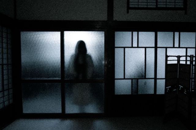 部屋の向こう側の女性の写真