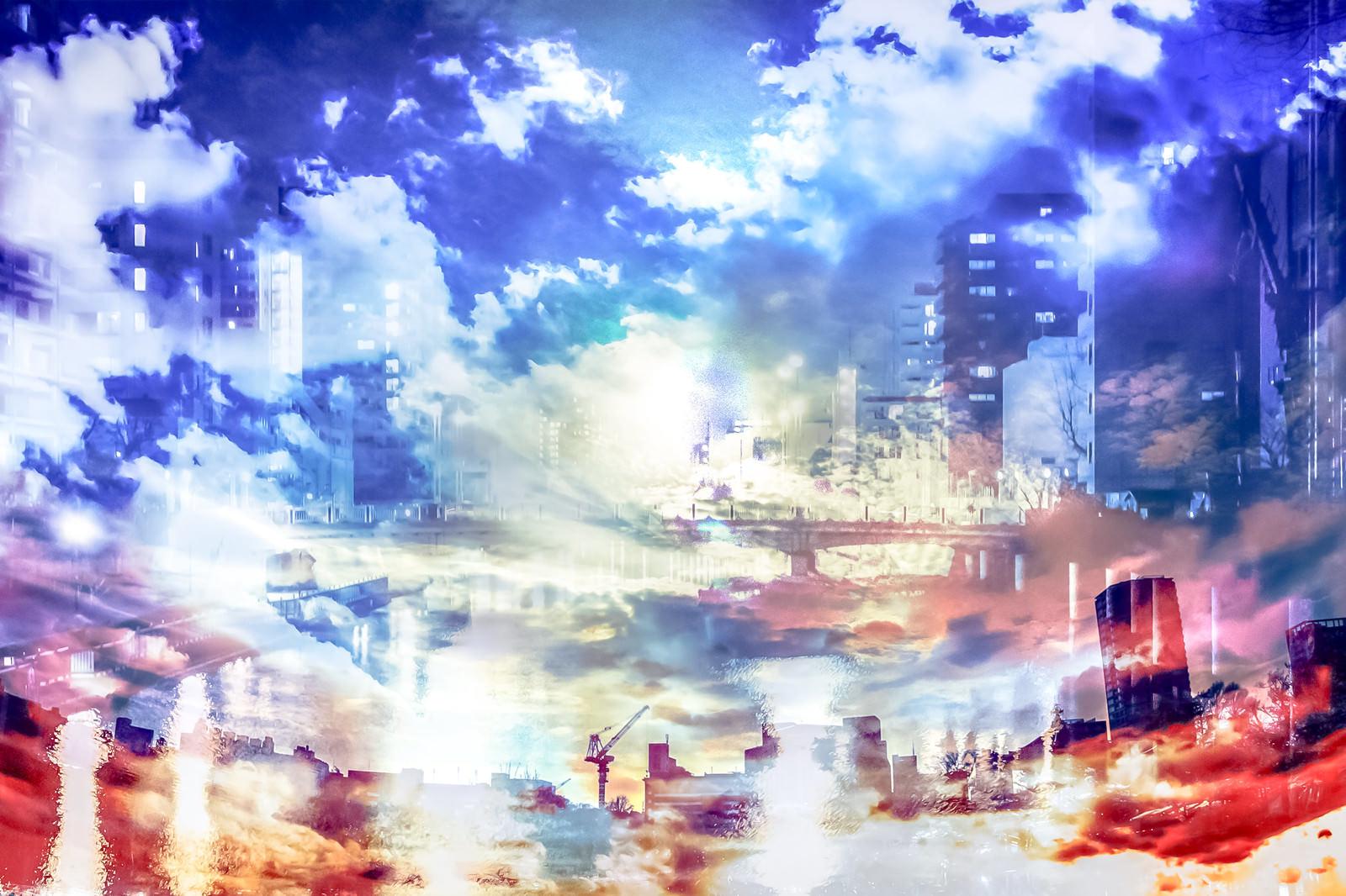 「インダストリアルシティインダストリアルシティ」のフリー写真素材を拡大