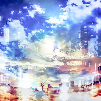 「インダストリアルシティ」の写真素材