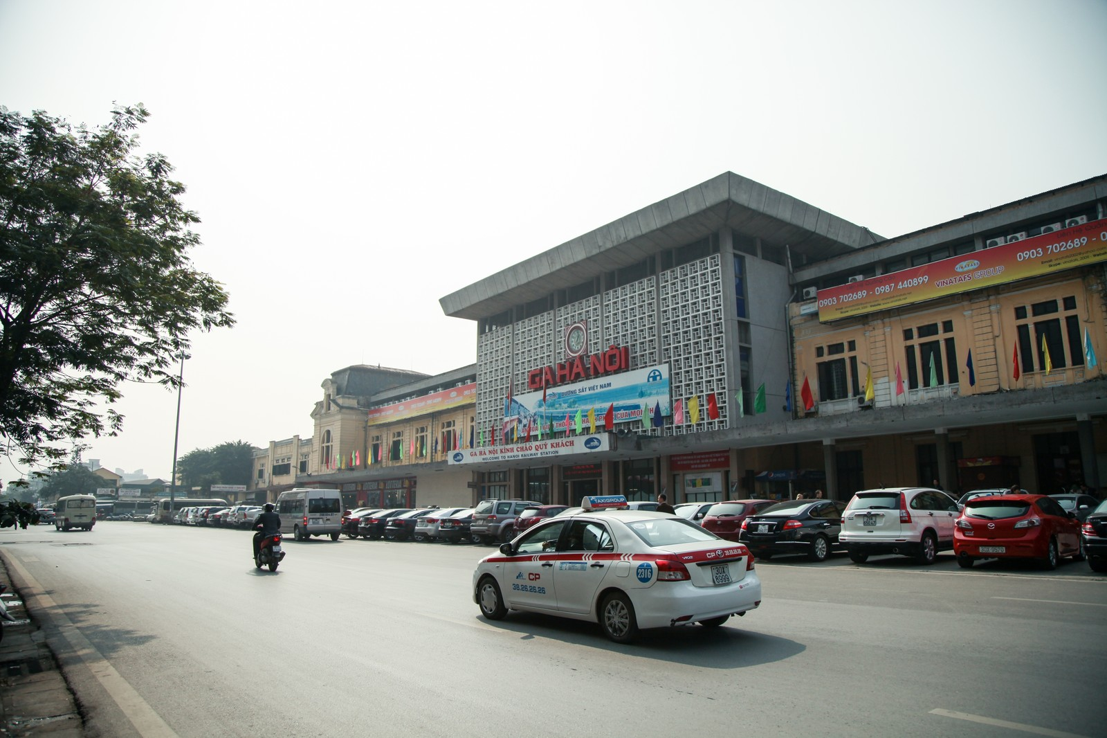 「ハノイの鉄道駅(ベトナム)」の写真