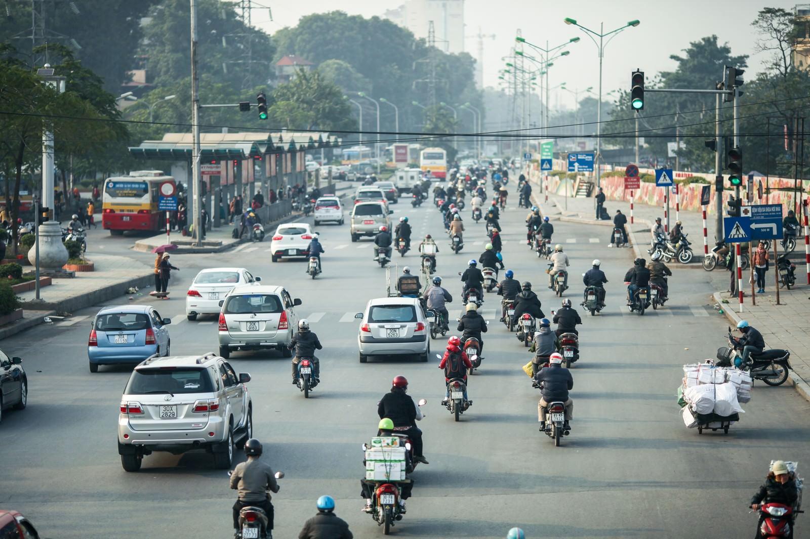 「ベトナムのバイク天国」の写真
