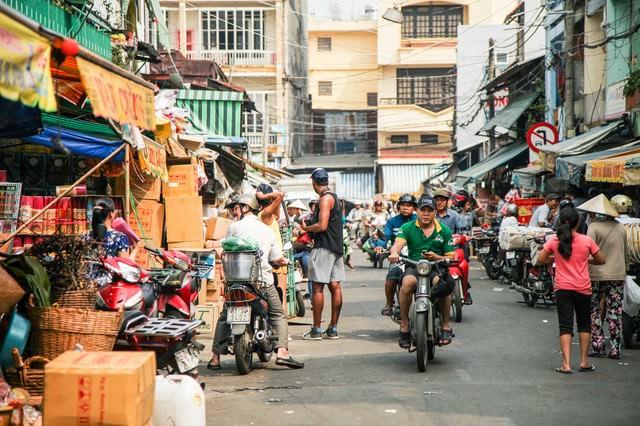 ベトナム(ホーチミン)の下町マーケットの写真