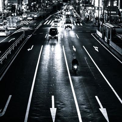 「夜の交通」の写真素材