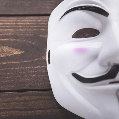 「無表情の仮面」の写真素材