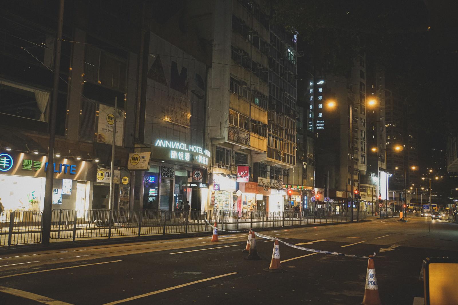 「道路を封鎖(香港デモの様子)」の写真