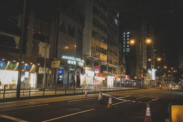 道路を封鎖(香港デモの様子)の写真