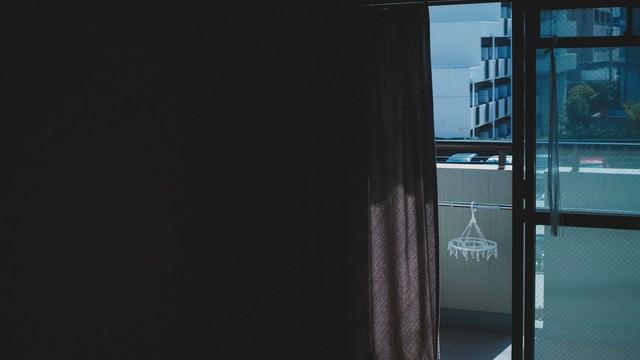 単身赴任、ワンルームからの外の写真
