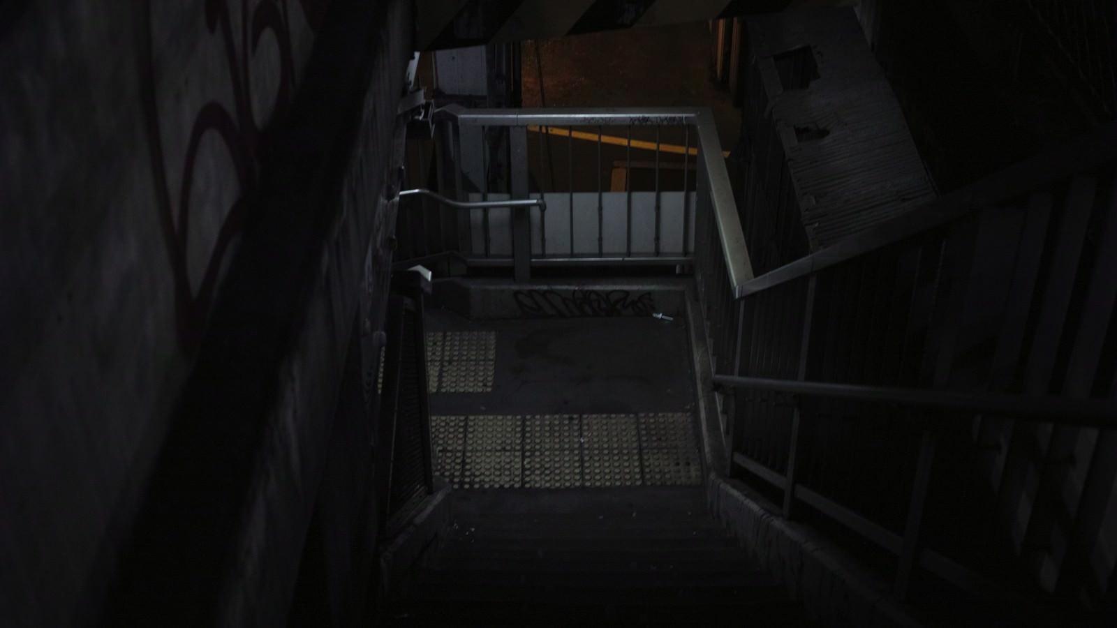 「不気味な階段(歩道橋)」の写真
