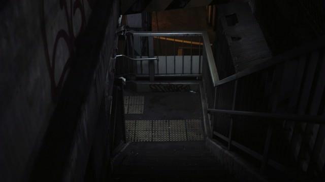 不気味な階段(歩道橋)の写真