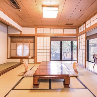 「温泉宿の和室」の写真素材