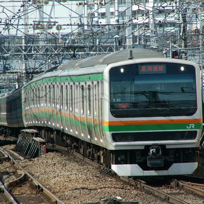 「東海道線(E231系)」の写真素材