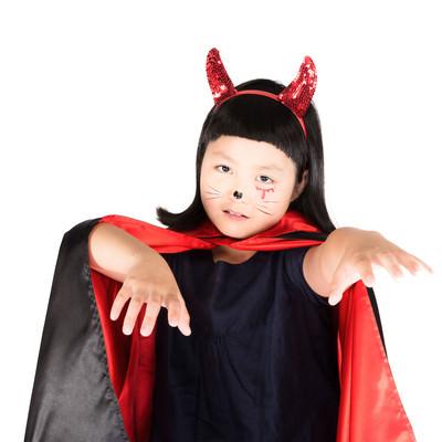 「可愛い小悪魔コスプレ」の写真素材
