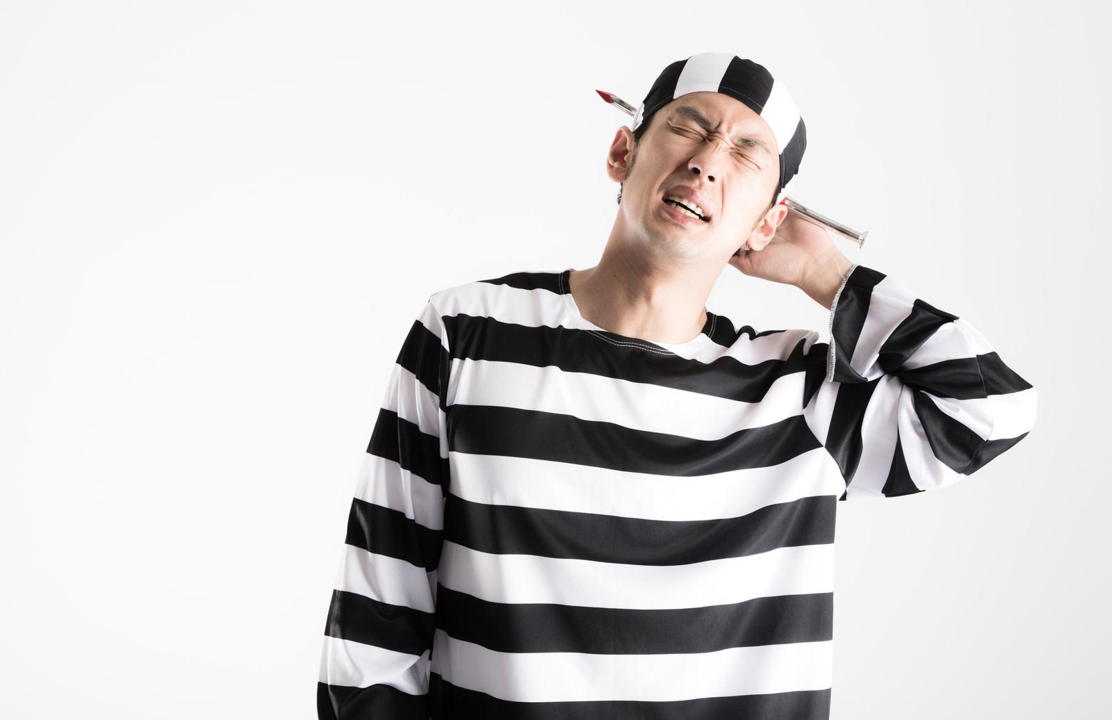 「刑務作業中に怪我をした囚人(ハロウィン)」の写真[モデル:大川竜弥]