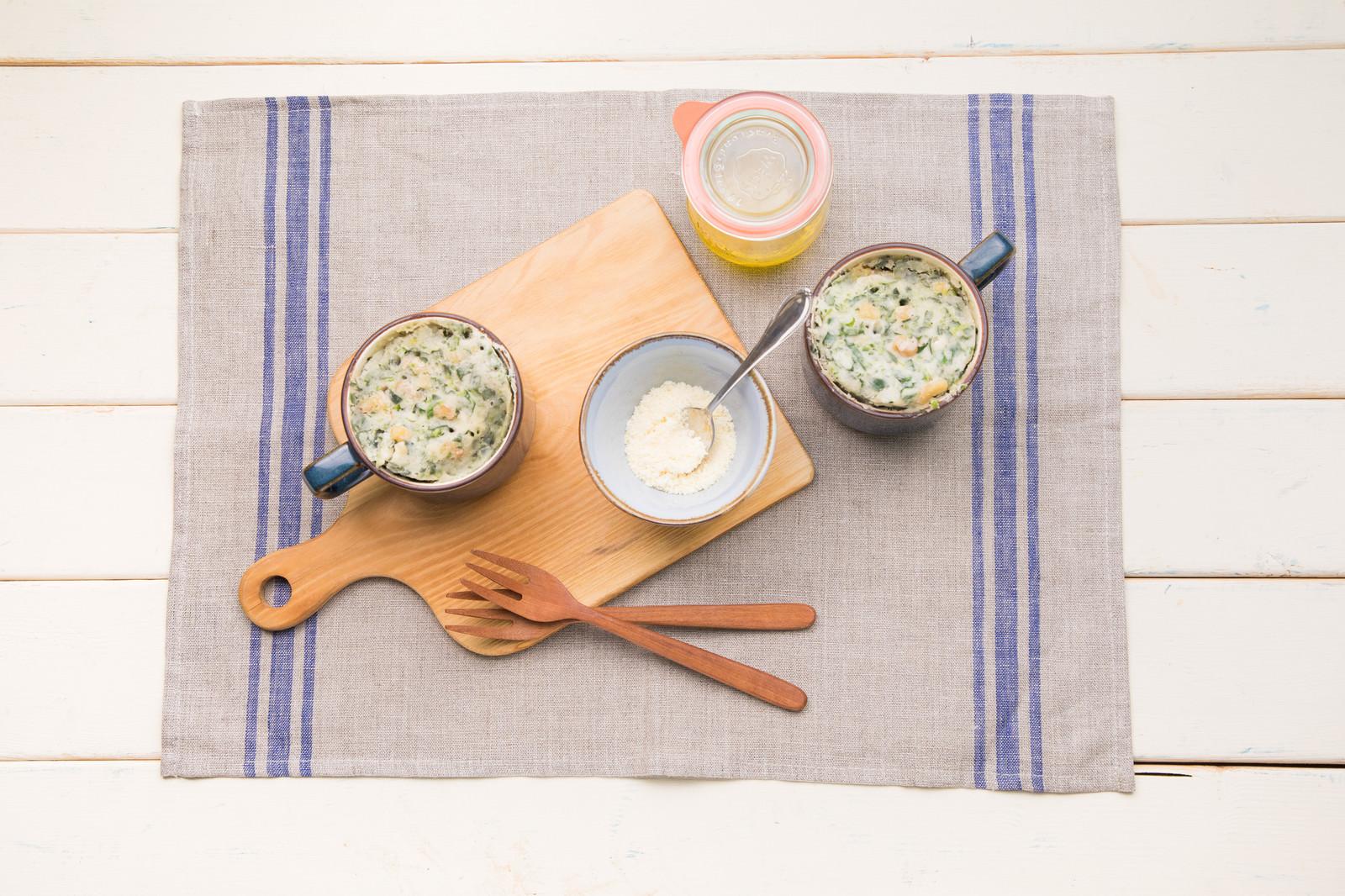 「米粉生地の蒸しパン」の写真